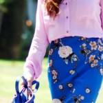 Cvjetna suknja komad za zimu i ljeto