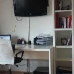 Moj kućni ured u spavaćoj sobi