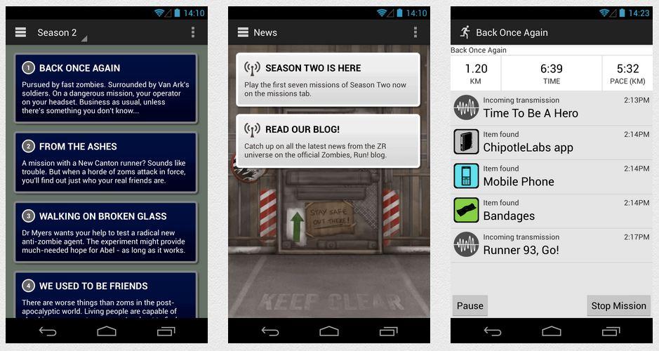 aplikacije za trcanje - zombiesrun