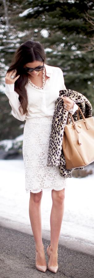 bijela boja zimi