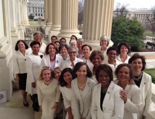 demokratkinje u bijelom