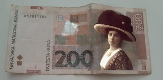 Lik žene na novčanici