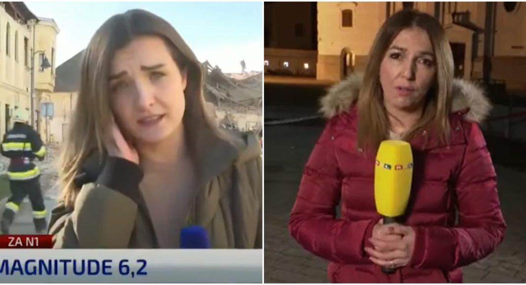 Novinarke s terena